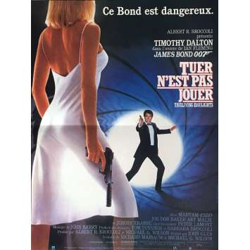 LICENSE TO KILL French Movie Poster 15x21 - 1987 - James Bond, Timothy Dalton