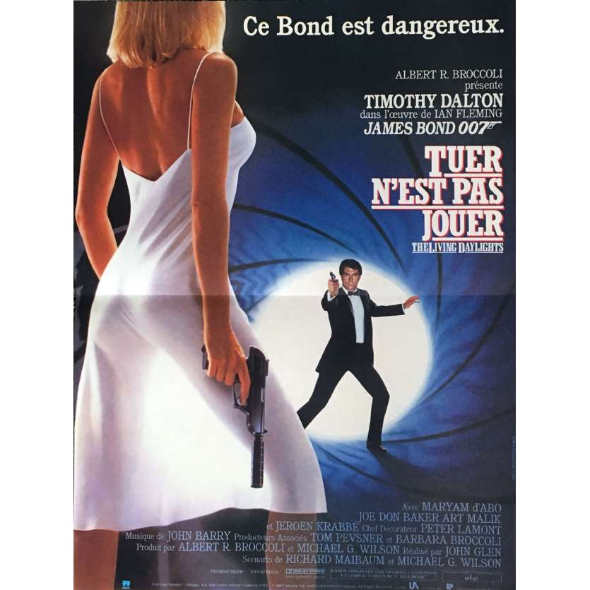 LICENSE TO KILL French Movie Poster 15x21 - 1987 - James Bond, Timothy Dalton