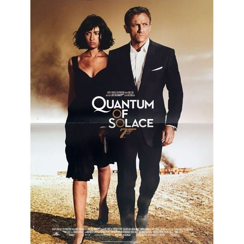QUANTUM OF SOLACE French Movie Poster 15x21 - 2008 - James Bond, Daniel Craig