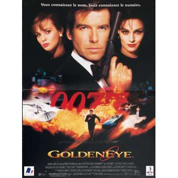 GOLDENEYE French Movie Poster 15x21 '95 Pierce Brosnan, 007 James Bond