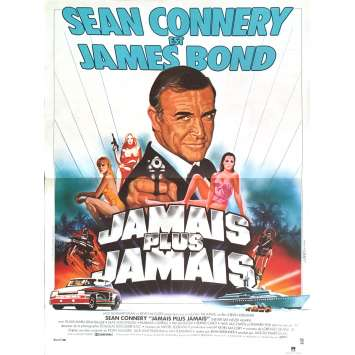 JAMES BOND Never say Never Again French Movie Poster 15x21 '83 R. Moore 007