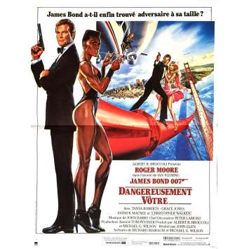 JAMES BOND A View to a Kill French Movie Poster 15x21 '85 R. Moore 007