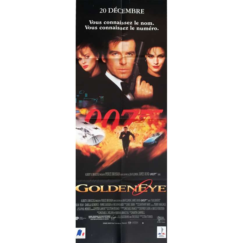 JAMES BOND Goldeneye French Movie Poster 24x63 '95 P. Brosnan 007