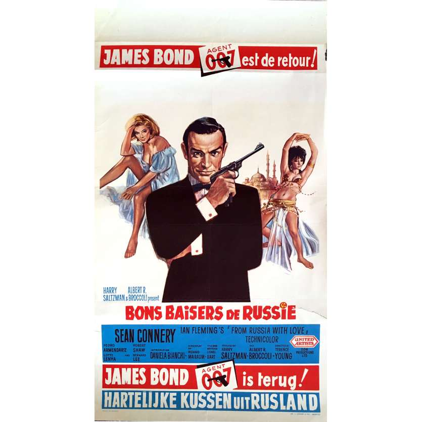 FROM RUSSIA WITH LOVE Belgian Movie Poster 14x20 - 1964 - Terence Young, Sean Connery