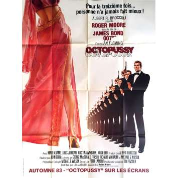 OCTOPUSSY Movie Poster Advance 47x63 in. - 1983 - John Glen, Roger Moore