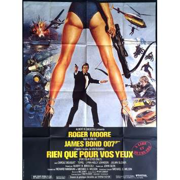 FOR YOUR EYES ONLY Movie Poster 47x63 in. - 1981 - John Glen, Roger Moore