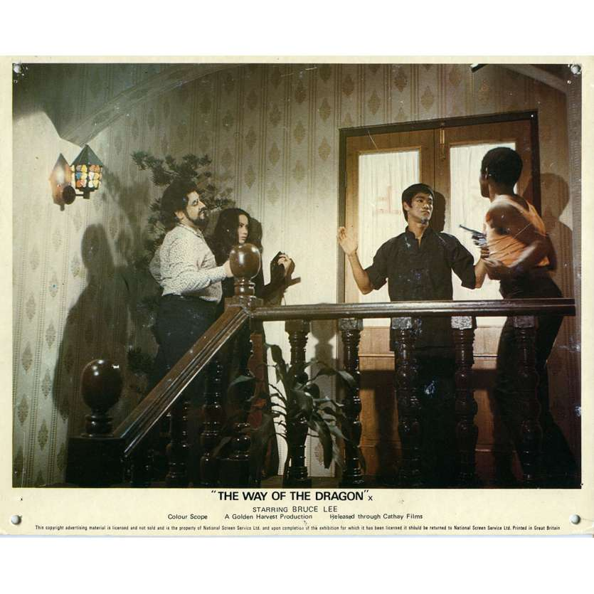 THE RETURN OF THE DRAGON Lobby Card N07 8x10 in. - 1972 - Bruce Lee, Chuck Norris