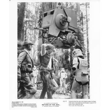 STAR WARS - LE RETOUR DU JEDI Photo de presse N05 20x25 cm - R1985 - Harrison Ford, Richard Marquand