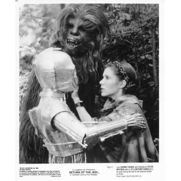 STAR WARS - LE RETOUR DU JEDI Photo de presse N04 20x25 cm - R1985 - Harrison Ford, Richard Marquand