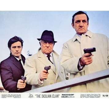 THE SICILIAN CLAN Lobby Card N01 8x10 in. - 1969 - Henri Verneuil, Lino Ventura