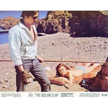 THE SICILIAN CLAN Lobby Card N05 8x10 in. - 1969 - Henri Verneuil, Lino Ventura