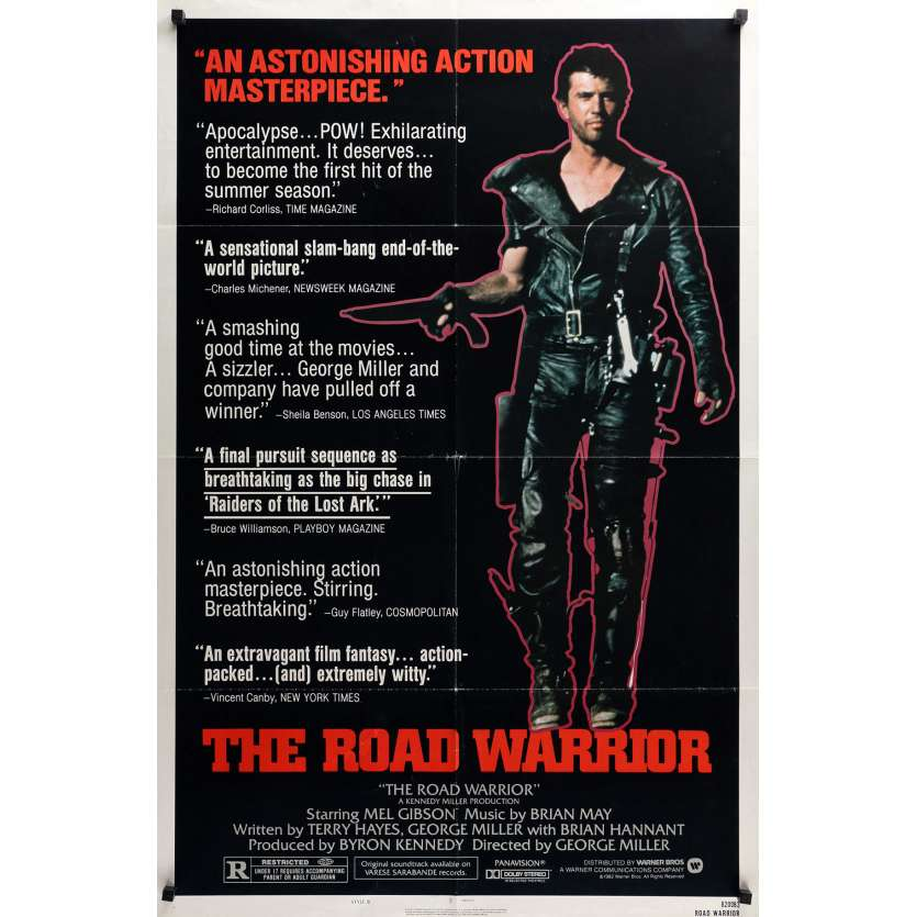 MAD MAX 2 Affiche de film Style B 69x104 cm - 1982 - Mel Gibson, George Miller