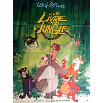 THE JUNGLE BOOK Movie Poster 47x63 in. - R1970 - Walt Disney, Louis Prima