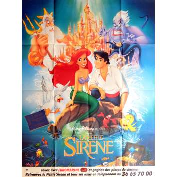 THE LITTLE MERMAID Movie Poster 47x63 in. - 1989 - Walt Disney, Jodi Benson