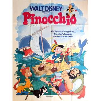 PINOCCHIO Movie Poster 47x63 in. - R1978 - Disney, Mel Blanc
