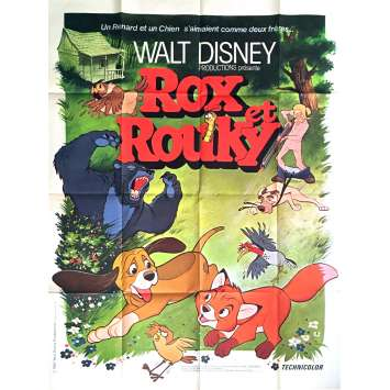 THE FOX AND THE HOUND Movie Poster 47x63 in. - 1981 - Walt Disney, Mickey Rooney
