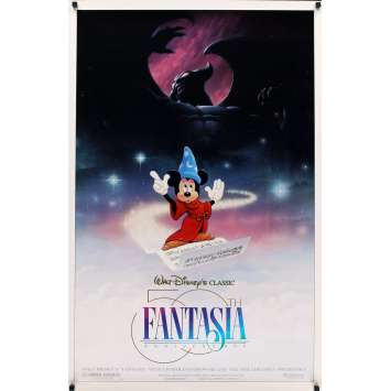 FANTASIA DS Movie Poster R90 great image of magical Mickey Mouse, Disney musical cartoon classic!