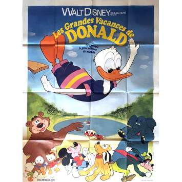DONALD DUCK'S SUMMER MAGIC Movie Poster 47x63 in. - 1977 - Walt Disney, Donald Duck