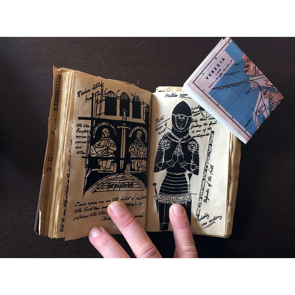 INDIANA JONES Diary Hero Prop, Hand Made, Perfect Replica