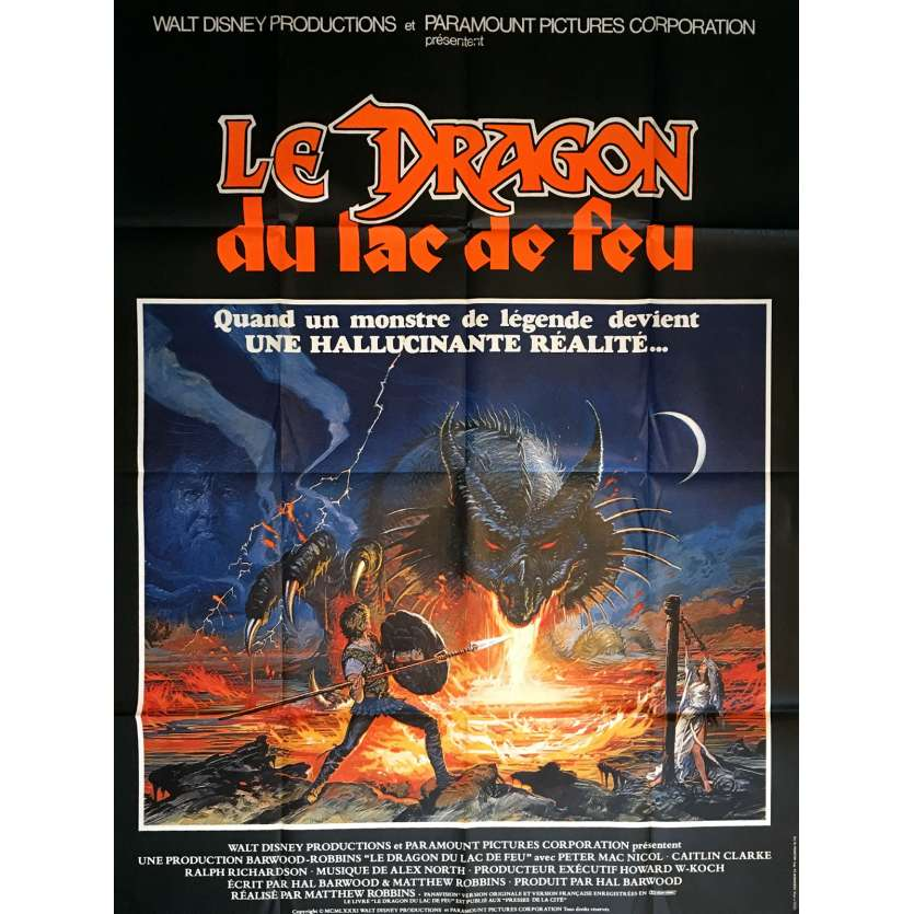 DRAGONSLAYER Movie Poster 47x63 in. French - 1981 - Matthew Robbins, Caitlin Clarke
