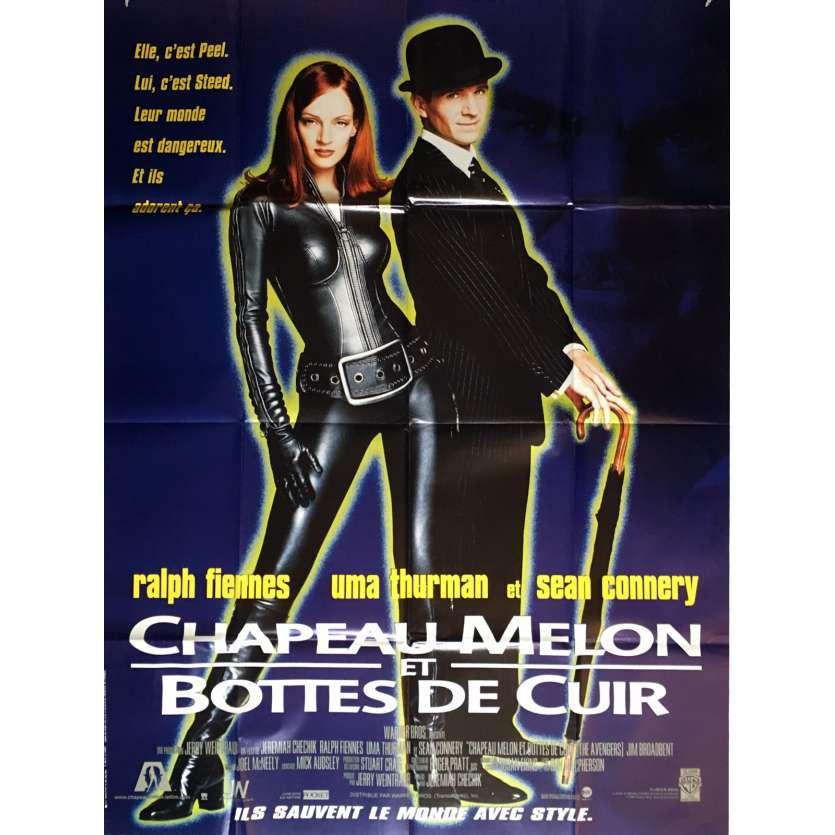 CUIR 1998 ET R 120x160 Affiche cm Chechick film de DE MELON BOTTES CHAPEAU Uma ThurmanJeremiah T1JKclF3