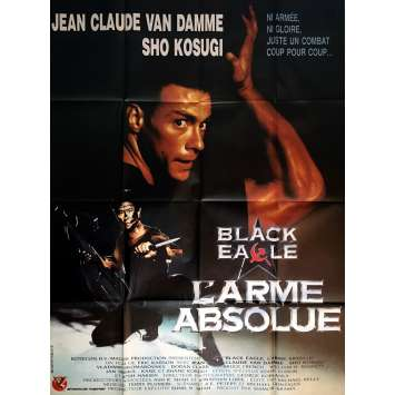 BLACK EAGLE L'ARME ABSOLUE Affiche de film 120x160 cm - 1988 - Jean-Claude Van Damme, Erik Carson