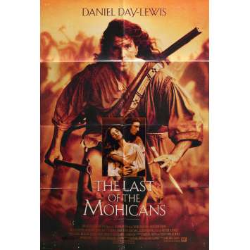 THE LAST OF THE MOHICANS Movie Poster 29x41 in. - 1992 - Michael Mann, Daniel Day-Lewis