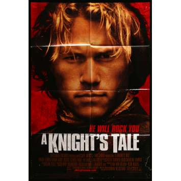 A KNIGHT'S TALE Movie Poster 29x41 in. - 2001 - Brian Helgeland, Heat Ledger