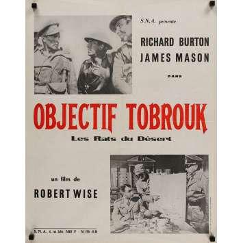 LES RATS DU DESERT Affiche de film 60x80 cm - 1953 - Richard Burton, Robert Wise