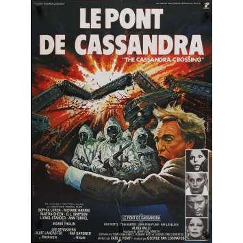THE CASSANDRA CROSSING Movie Poster 23x32 in. - 1976 - George P. Cosmatos, Sophia Loren