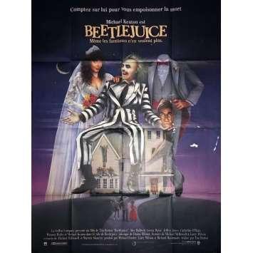 BEETLEJUICE French Movie Poster 47x63 - 1988 - Tim Burton, Michael Keaton