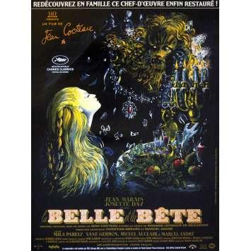 LA BELLE ET LA BETE French Movie Poster 15x21 R13 Jean Cocteau, Jean Marais