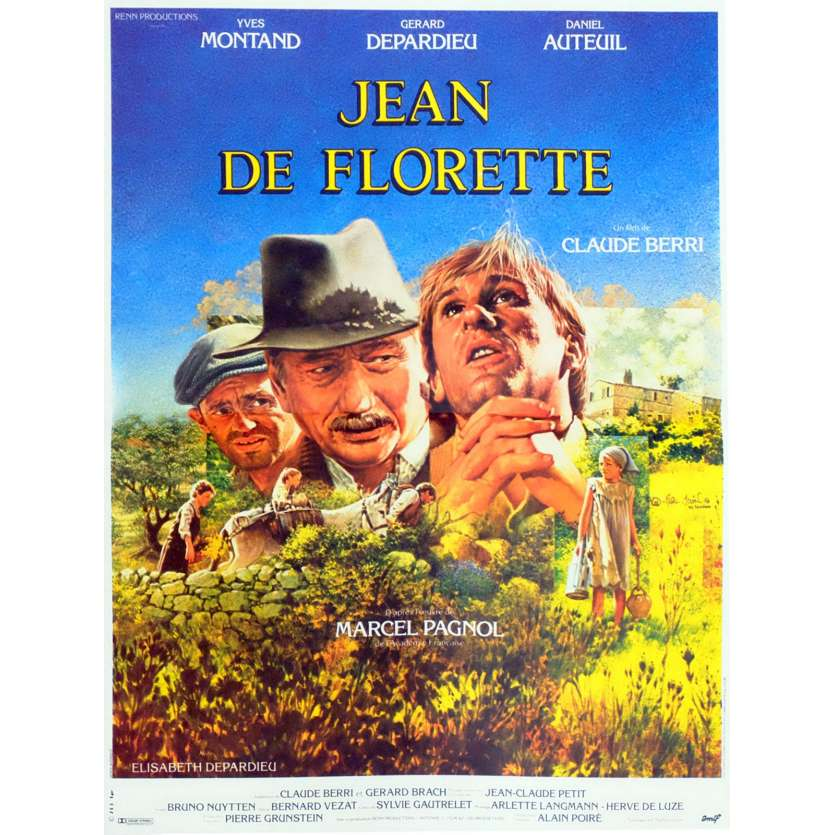 JEAN DE FLORETTE French Movie Poster 15x21 - 1986 - Claude Berri, Gérard Depardieu