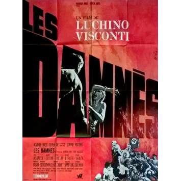 LES DAMNES Affiche de film 120x160 - 1969 - Dirk Bogarde, Luchino Visconti