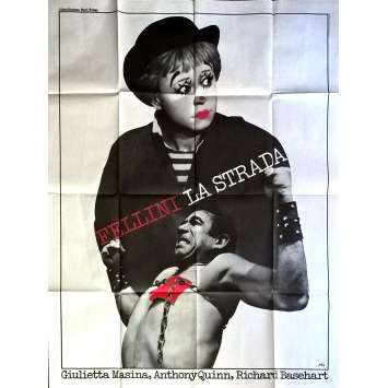 LA STRADA Movie Poster 47x63 in. - R1971 - Federico Fellini, Anthony Quinn