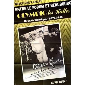 CITIZEN KANE Affiche de film 80x120 cm - R1968 - Joseph Cotten, Orson Welles