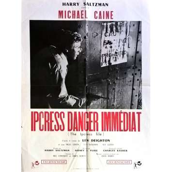 THE IPCRESS FILES Movie Poster 23x32 in. - R1968 - Sidney J. Furie, Michael Caine