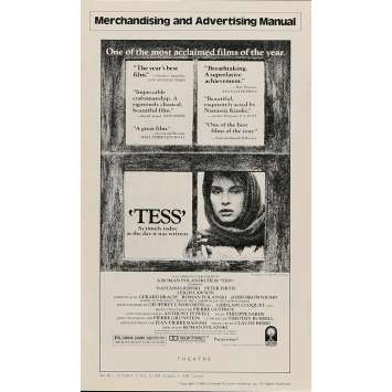 TESS Dossier de presse 20x30 cm - 1981 - Nastassja Kinski, Roman Polanski