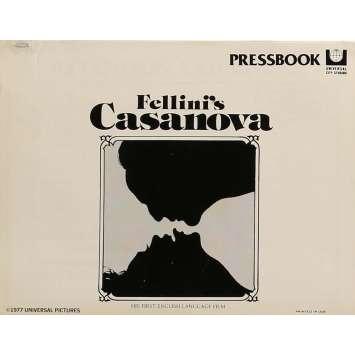 CASANOVA Dossier de presse 20x30 cm - 1976 - Donald Sutherland, Federico Fellini
