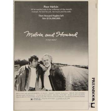 MELVIN AND HOWARD Dossier de presse 20x30 cm - 1980 - Jason Robards, Jonathan Demme
