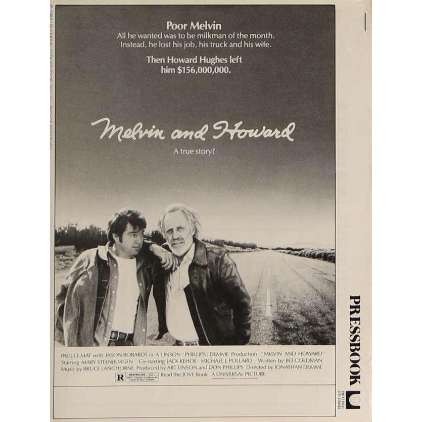 MELVIN AND HOWARD Dossier de presse 20x30 cm - 1980 - Jason Robards, Jonathan Demme