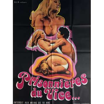 PRISONNIERES DU VICE Movie Poster 47x63 in. - 1970's - Inconnu, Inconnu