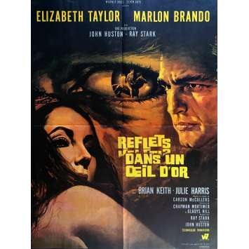 REFLECTIONS IN A GOLDEN EYE Movie Poster 23x32 in. - 1967 - John Huston, Maron Brando