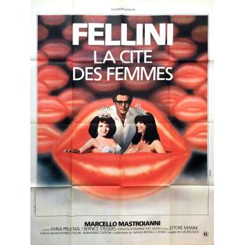 CITY OF WOMEN Movie Poster 47x63 in. - 1980 - Federico Fellini, Marcello Mastroianni