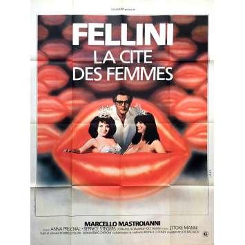 LA CITE DES FEMMES Affiche de film 120x160 cm - 1980 - Marcello Mastroianni, Federico Fellini