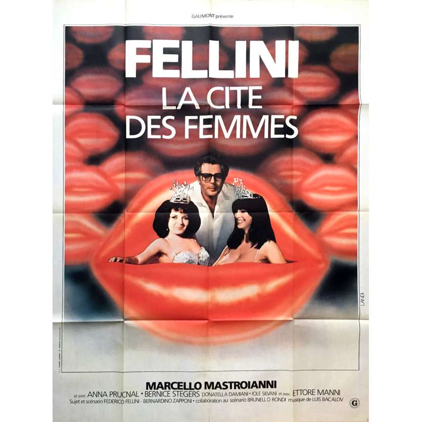 CITY OF WOMEN Movie Poster 47x63 in. - 1980 - Federico Fellini, Marcello Mastroianni