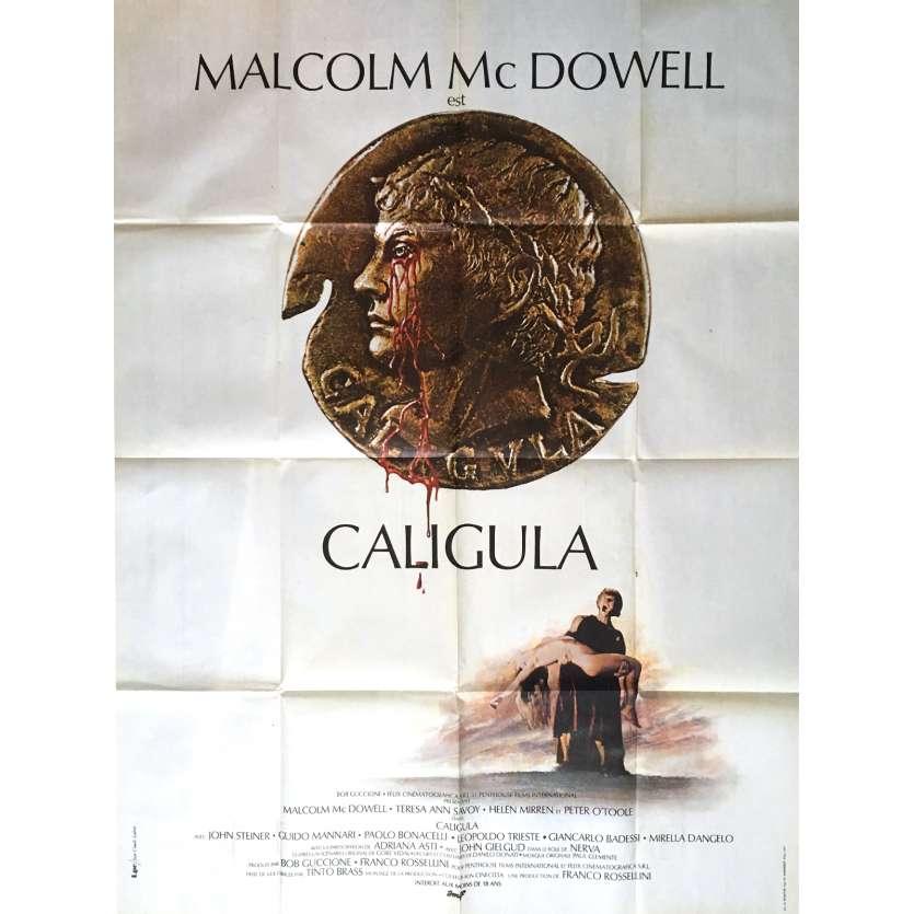 CALIGULA Affiche de film 120x160 cm - 1979 - Malcom McDowell, Tinto Brass
