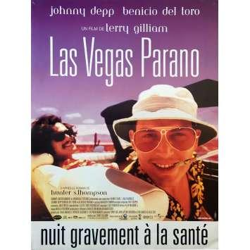 LAS VEGAS PARANO Affiche de film 40x60 cm - 1998 - Johnny Depp, Terry Gilliam