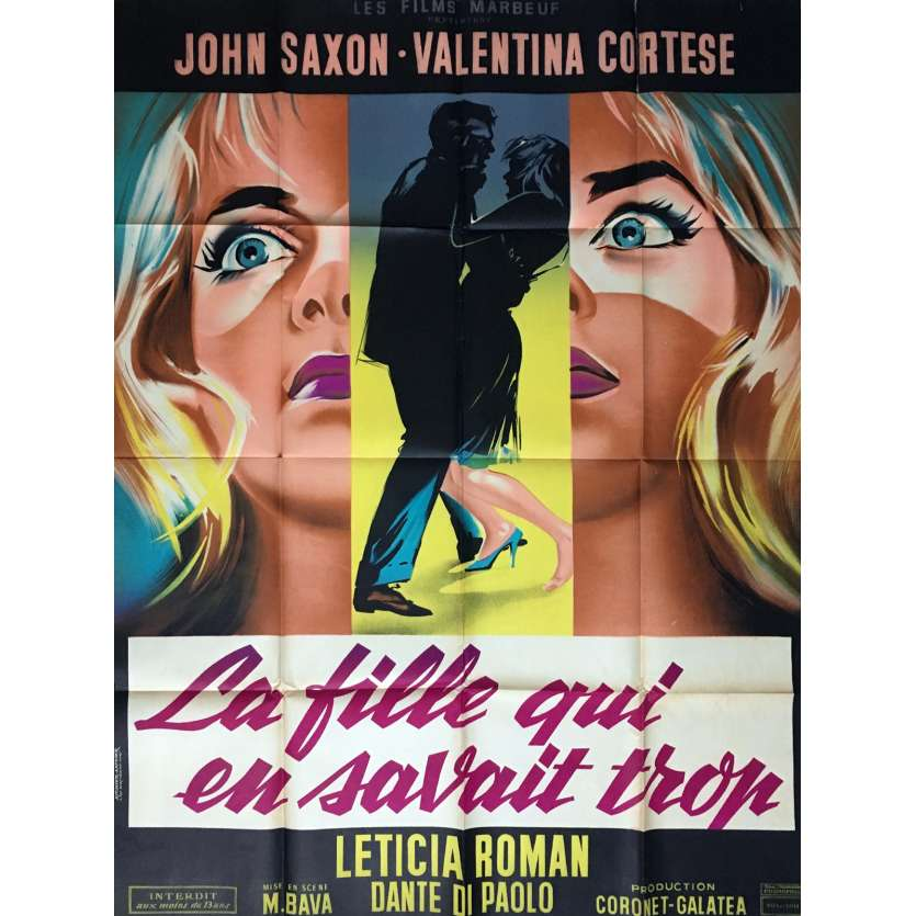 GIRL WHO KNEW TOO MUCH French 1P Movie Poster '62 Mario Bava Thriller