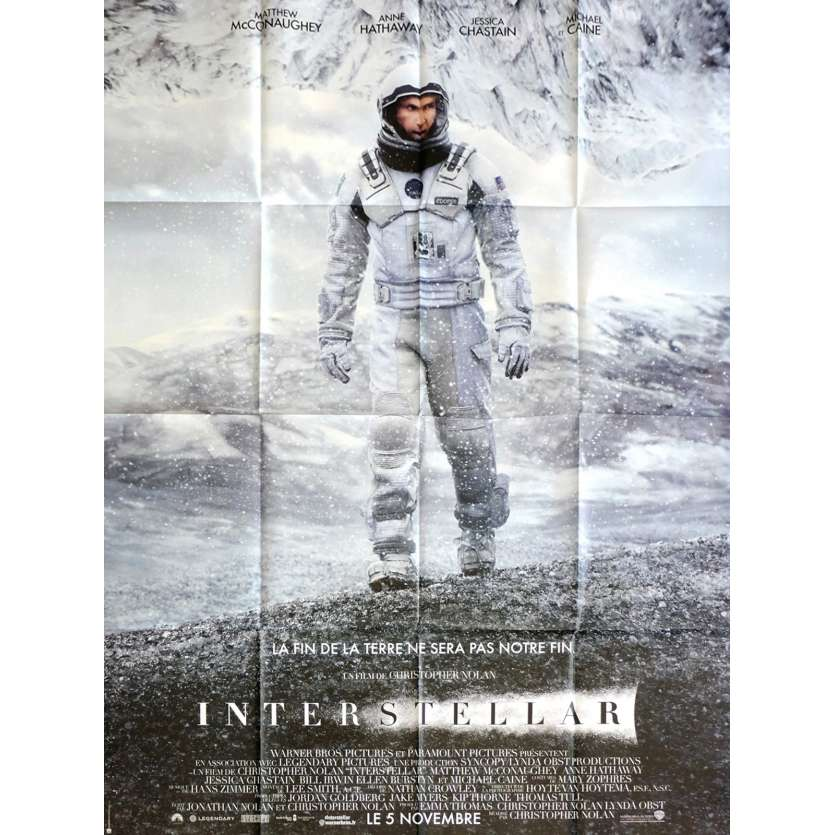 INTERSTELLAR French Movie Poster 15x21 - 2014 - Christopher Nolan, Matthew McConaughey
